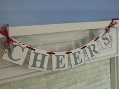 Cheers Wedding Banner Wedding Decor by anyoccasionbanners on Etsy, $15.00 Made of chipboard