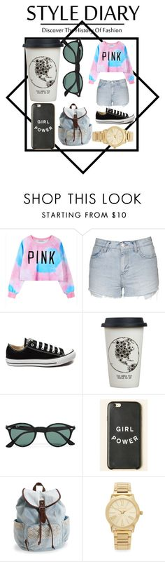 """Sleepy look"" by kyaniutia ❤ liked on Polyvore featuring Chicnova Fashion, Topshop, Converse, Natural Life, Ray-Ban, Aéropostale, Michael Kors, women's clothing, women and female"