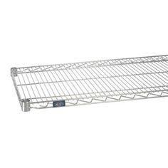 """Nexel Standard Wire Shelf Finish: Poly-Z-Brite, Size: 1.75"""" H x 60"""" W x 24"""" D"""