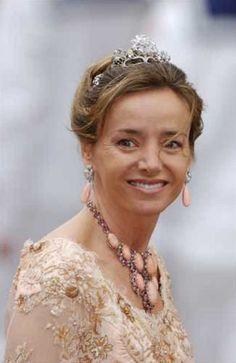 Princess Miriam, wife of Prince Kardam, Prince of Turnovo and Duke of Saxony, wearing a Diamond Tiara, Bulgaria (diamonds).