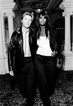 Outtakes from David Bowie and Iman's photoshoot for Tommy Hilfiger - Amstel Hotel, Amsterdam, October 2003 © Ellen von Unwerth