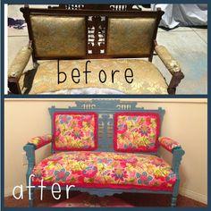 Vintage Love Seat make over!  Big Girl Room!