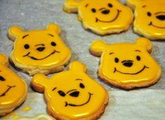 winnie the pooh sugar cookies, food maker, yellow, black, sugar cookies, charactor, cartoon, party,