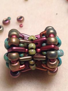 Beth Stone Designs. Playing with QuadraTiles and other seed beads