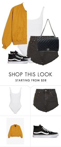 """Untitled #13414"" by alexsrogers ❤ liked on Polyvore featuring Eres, Topshop, Monki, Vans and Chanel"