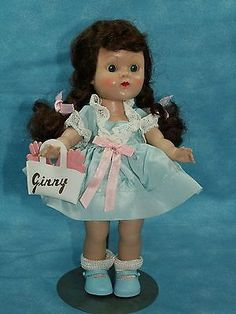 """Vintage 1954 Vogue 8"""" HP-PLW GINNY DOLL - Tagged clothing - Mint condition"""