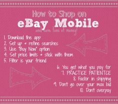 tips for how to shop on ebay mobile and save a ton of money Ebay Mobile, Mixing Prints, I Got This, Amanda, Nail Polish, Thankful, Money, Tips, Accessories