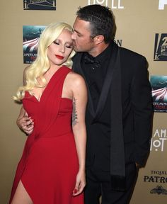 Lady Gaga and Taylor Kinney had the look of love on Saturday when they hit the carpet for the premiere of American Horror Story: Hotel in LA. Lady Gaga, who Taylor Kinney, American Horror Story Premiere, American Horror Story Hotel, Chicago Fire, Chicago Pd, Cute Celebrity Couples, Cute Couples, Celebrity Dresses, Lancaster