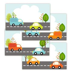 Printable Zoom Car 3 x 5 inch Cards Labels by TracyAnnPrintables, $4.00