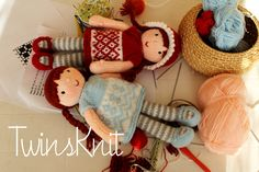 Twins' Knitting Pattern MiniShop - http://twinsknit.blogspot.com/2016/02/mirabella-knitted-doll.html