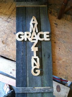 Check out this item in my Etsy shop https://www.etsy.com/listing/193921307/amazing-grace-cross