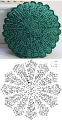 Free Crochet Doily Patterns, Crochet Wool, Crochet Quilt, Crochet Designs, Crochet Mandala, Crochet Doilies, Crochet Flowers, Crochet Stitches, Crochet Pillow Cases