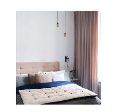 Måttanpassade gardiner i sammet, sovrummet tillhör Petra Tungården.