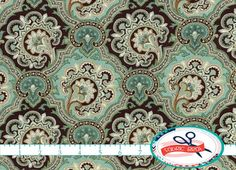 Hey, I found this really awesome Etsy listing at https://www.etsy.com/listing/181648375/brown-teal-fabric-by-the-yard-fat