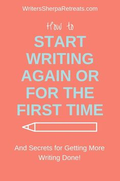 Sometimes people who want to write have trouble showing up at the writing desk. Here are a few tips on how to start writing. Creative Writing Tips, Book Writing Tips, Writing Words, Writing Poetry, Writing Process, Writing Resources, Start Writing, Writing Help, Writing Skills
