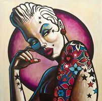 Terry Bradley at Smart Art Galleries, Sheffield Smart Art, Limited Edition Prints, Tattoo Photos, Rockabilly, Street Art, Black And Grey, Art Gallery, Portrait, Illustration