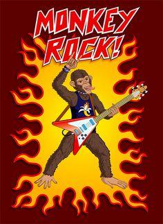 Monkey Rock! illustration by Rod Hunt  http://www.rodhunt.com