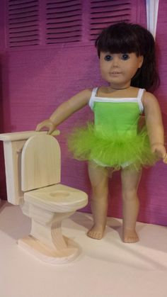 18 doll toilet by Dcwp on Etsy, $18.99