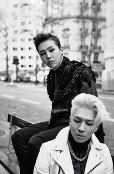 """G-Dragon x Taeyang in Paris 2014"" Wallpaper from Line Deco #BIGBANG"