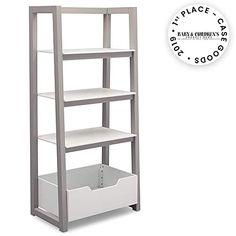Enjoy exclusive for Delta Children Ladder Shelf, White/Grey online – Prettyfashionclo - saving. Grey Home Office Furniture, Grey Furniture, Cabinet Furniture, Ladder Bookshelf, Bookcase Door, Bookshelves Kids, Under Bed Shoe Storage, Cube Storage, Storage Spaces