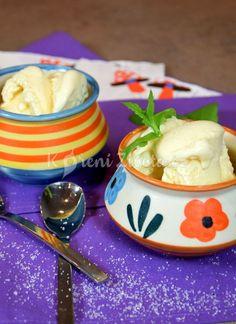 Domácí zmrzlina chutná skvěle ať je venku teplo, nebo zima :-) udělejte si tu nejklasičtější ze všech - vanilkovou z pravé smetany a vajec. A bez zmrzlinovače. Recept najdete na www.korenizivota.cz #domacizmrzlina #vanilka #korenizivota Goodies, Frozen, Ice Cream, Pudding, Food, Sweet Like Candy, No Churn Ice Cream, Good Stocking Stuffers, Icecream Craft