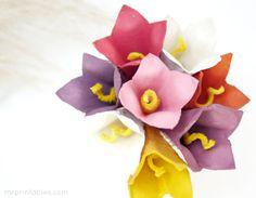 Manualidades infantiles: cómo hacer flores con cartones de huevo