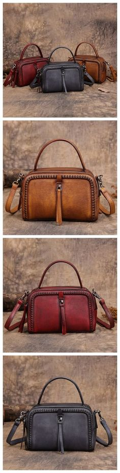 Handmade Leather Messenger Bag Handbag Shoulder Bag Small Satchel Women's Fashion Bag Leather Cross Body Bag YS03 Overview: Design: Vintage Vegetable Tanned Leather Handbag In Stock: 3-5 days For Maki