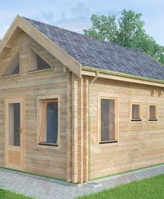 "Micro Log Cabin x ""Maidstone"" Tiny House Cabin, Log Cabin Homes, Tiny House Plans, Log Cabins, Tiny Houses, Cottage Porch, Home Porch, Cedar Cabin, How To Build A Log Cabin"
