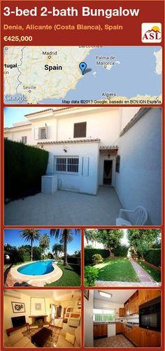 3-bed 2-bath Bungalow in Denia, Alicante (Costa Blanca), Spain ►€425,000 #PropertyForSaleInSpain