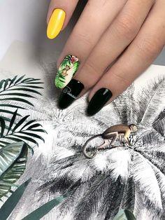 🐅J U N G🦜L E B O O K 🌵 HOT summer manicure Tiger Print, Petra, Aqua, Rings For Men, Tropical, Gemstones, Nails, Hot, Summer