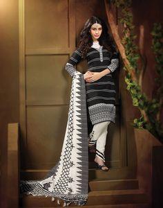 Black Banglori Silk Churidar Suit 63676
