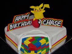 Lego and Pikachu Cake - GoochieGourmet.com