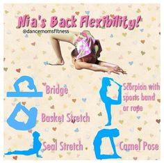 Yoga Sequence // Yoga Poses // Asana // Mind Body Soul Exercise // Stress Relief // Mental Health // Strengthen and Tone // Stretch Inspiration // Health and Fitness // Gym Inspiration // Work Out ❤︎ Cheer Stretches, Gymnastics Stretches, Dance Stretches, Gymnastics Workout, Yoga Moves, Stretching Exercises, Cheerleading Stretching, Scorpion Stretches, How To Do Gymnastics