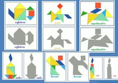 Tangram | Figuras para imprimir online Tangram Puzzles, Logic Puzzles, Math Manipulatives, Numeracy, Toddler School, Brain Teasers, Business For Kids, Crafts For Kids, Holiday Decor