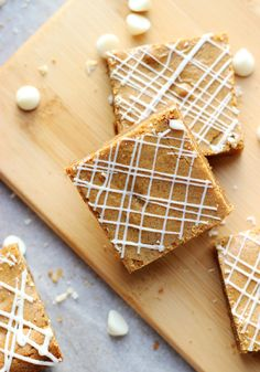 Culinary Couture: White Chocolate Chip Gingerbread Blondies