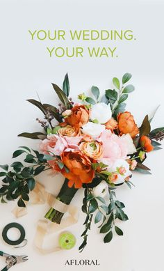 Create your wedding bouquet with silk flowers from Afloral.com. Fall Wedding Bouquets, Fall Wedding Flowers, Wedding Flower Arrangements, Bride Bouquets, Flower Bouquet Wedding, Floral Wedding, Wedding Colors, Floral Arrangement, Prom Flowers