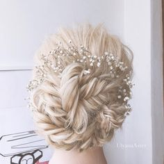 40 Awesome Jazzed Up Fishtail Braid Frisuren Box Braids Hairstyles, Fishtail Braid Hairstyles, Wedding Hairstyles For Long Hair, Wedding Hair And Makeup, Bride Hairstyles, Pretty Hairstyles, Bridal Hair, Fishtail Braids, Braid Bangs
