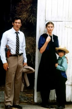 Witness (1985) Harrison Ford & Kelly McGillis This was my favorite movie for many years.  Just watched it again tonight ... still love it!  (Viggo Mortensen--aka Aragorn in the Lord of the Rings movies--made his acting debut in Witness as one of the young Amish men.)