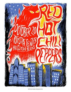 Red Hot Chili Peppers - Texas - Mini Print