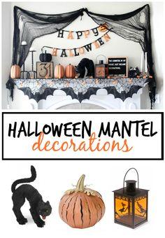 halloween mantel decorations