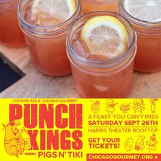 Joining us for #HeritageBBQ @Chicago_Gourmet on Sept 27? Then please join us for a special #PunchKings 9/26 as well!