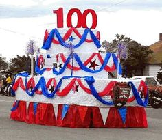 of July Birthday Float Parade 4th Of July Cake, Fourth Of July, July Birthday, Birthday Parties, Birthday Cakes, Christmas Parade Floats, Independence Day Parade, 4th Of July Parade, Canada Day