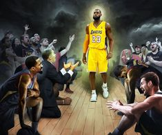 'The King Exits Cleveland' Lebron James of the Cleveland Cavaliers gets traded to The LA Lakers. The King Exits Cleveland Basketball Moves, Basketball Court Flooring, Basketball News, Basketball Pictures, Basketball Uniforms, Basketball Jersey, Kings Landing, Beverly Hills, Ohio