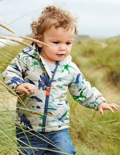Now with extra wadding for weatherproof spring walks on the beach and our favourite dinosaur print with stripy jersey lining for warmth and comfort on rainy days.
