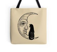 Cat Sitting on the Moon Tote Bag