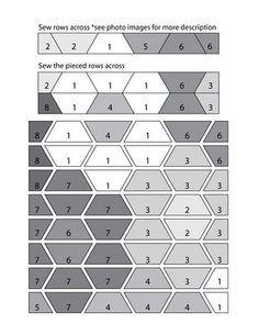 strip piecing a hexagon quilt - Google Search