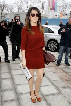 Salma Hayek Shows Us How It's Done | Tom & Lorenzo Fabulous & Opinionated  #dresses #longsleeve