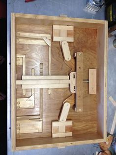 Wooden Puzzle Lock For Secret Door