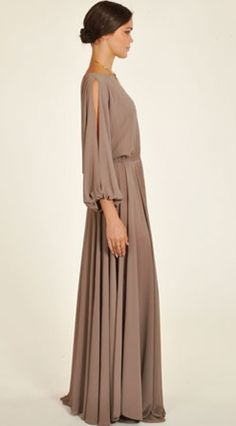 Odylyne Taupe Emperor Maxi Dress