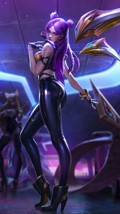 Hot, girl character, League of Legends, kai'sa, wallpaper Lol League Of Legends, Katarina League Of Legends, Akali League Of Legends, League Of Legends Characters, Girls Characters, Fantasy Characters, Female Characters, Cyberpunk Girl, Cyberpunk Character